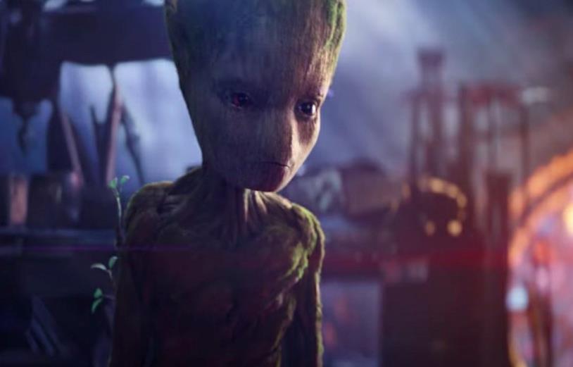 L'adolescenza del giovane Groot in Infinity War