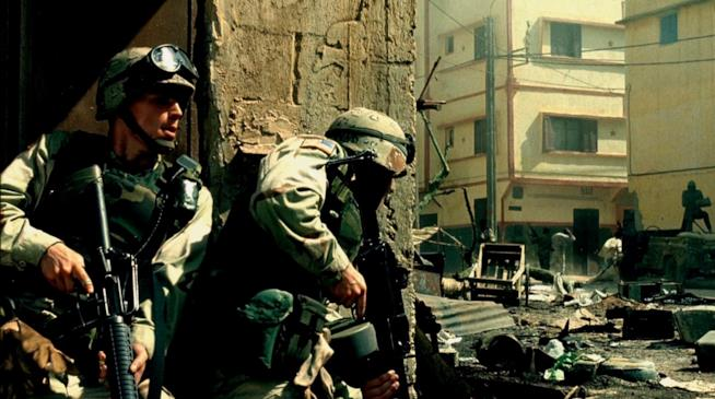 Una scena di Black Hawk Down