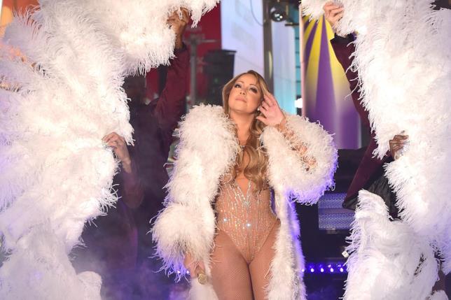 Mariah Carey a Times Square durante il concerto di Capodanno
