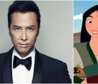 Un collage tra Donnie Yen e Mulan