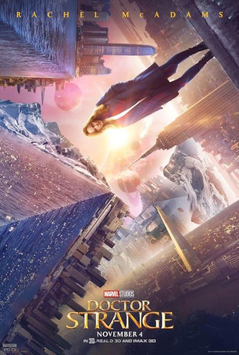 Rachel McAdams nel character poster di Doctor Strange.