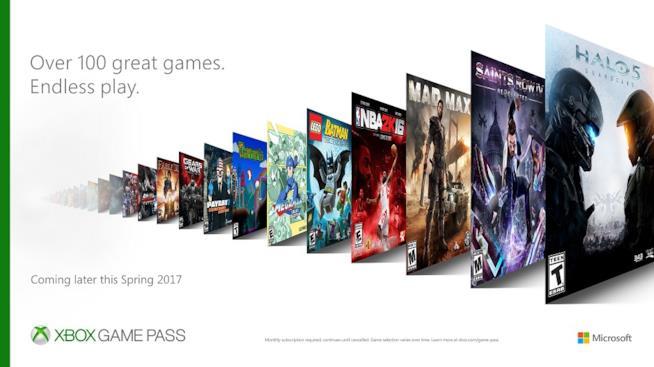 Microsoft annuncia Xbox Game Pass