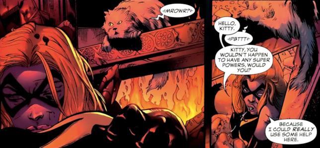 Ms. Marvel in un palazzo in fiamme incontra il gatto