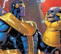 Thanos e una parte di Cap in una vignetta di U.S. Avengers