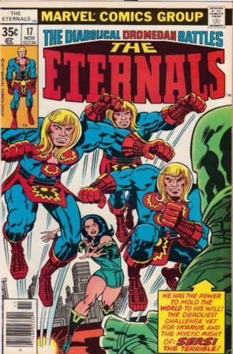 Copertina di un numero della serie a fumetti The Eternals