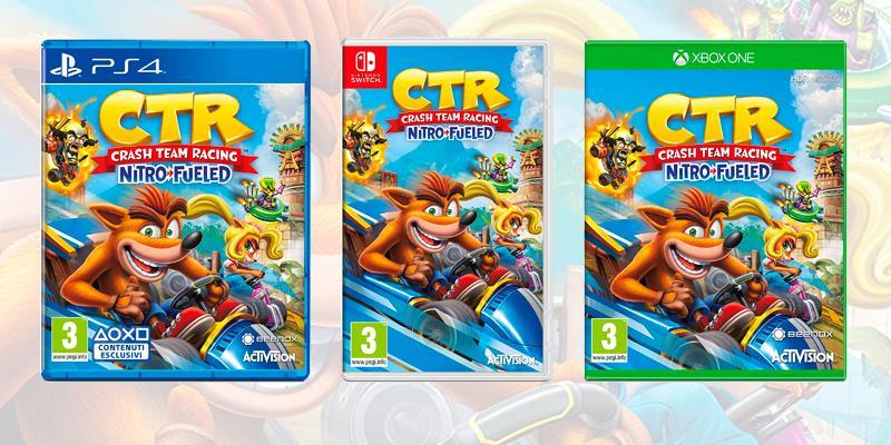 Crash Team Racing Nitro Fueled è disponibile su PS4, Xbox One, Nintendo Switch e PC