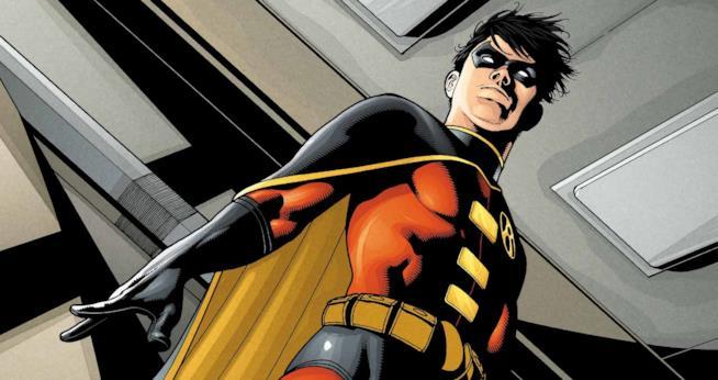 Uno splendido artwork ufficiale di Robin dal sito di DC Comics