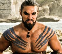 Jason Momoa in un'immagine da Game of Thrones