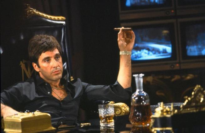 Al Pacino nel film Scarface