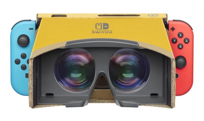 Nintendo Labo VR Kit con Switch inserita