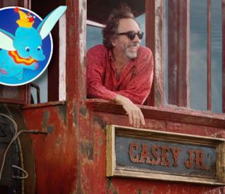 Tim Burton sul set di Dumbo