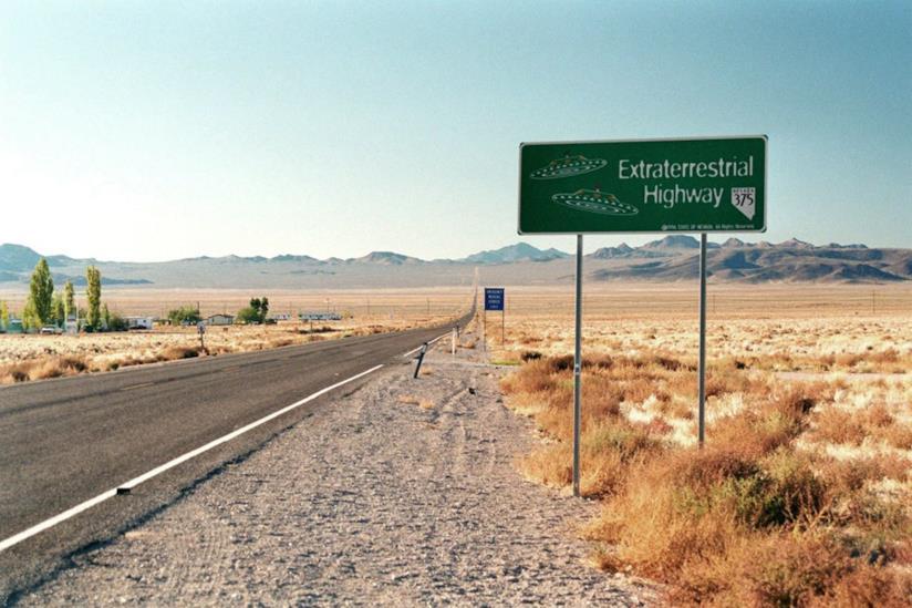 Un cartello della Extraterrestrial Highway in Nevada