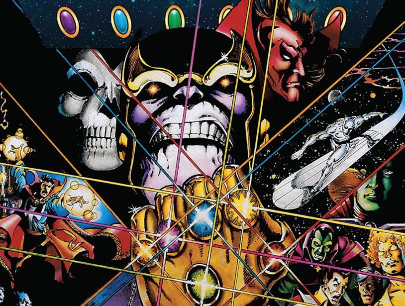 Dettaglio della cover di Infinity Gauntlet