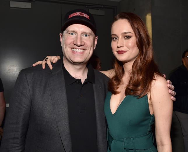 Kevin Feige e Brie Larson, Carol Danvers nei film Marvel