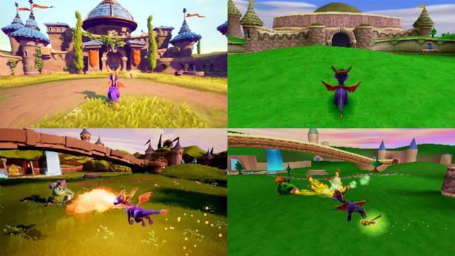 Immagini di confronto tra Spyro: Reignited Trilogy e l'originale Spyro