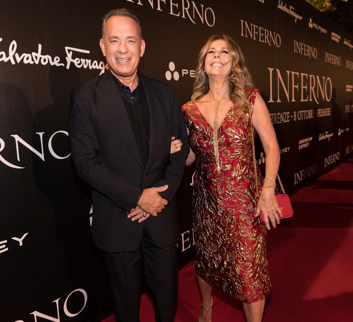 Tom Hanks e la moglie Rita Wilson a Firenze