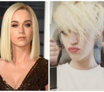 Primo piano di Katy Perry, prima e dopo il nuovo taglio