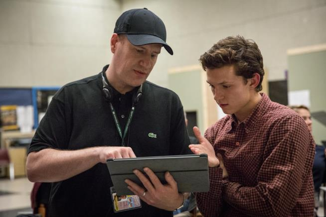 Kevin Feige e Tom Holland si confrontano sullo script di Homecoming