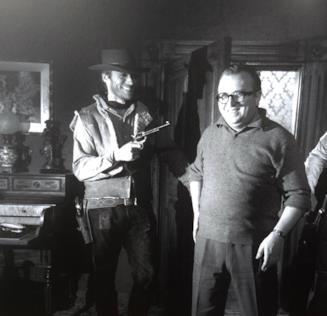 Clint Eastwood e Sergio Leone sul set di Per qualche dollaro in più