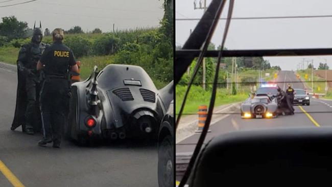 Batmobile fermata da polizia canadese