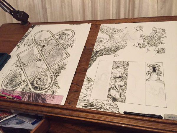 Bozze del nuovo fumetto su Batman e Wonder Woman mostrate da Liam Sharp sui social