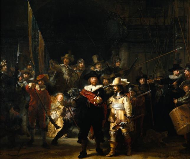 La Ronda di Notte dipinta da Rembrandt