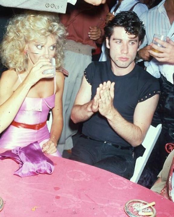 John Travolta e Olivia Newton-John nel 1978