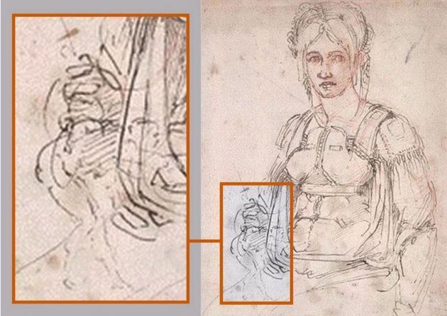 Dettagli sul ritratto di Vittoria Colonna eseguito da Michelangelo