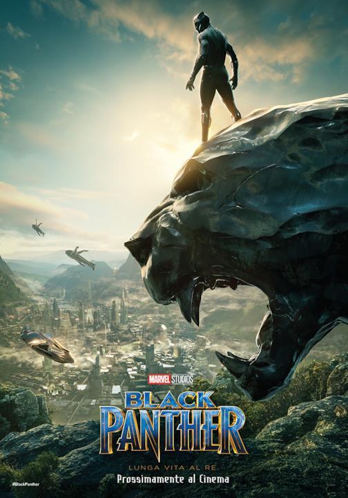 Il poster di Black Panther presentato al SDCC 2017