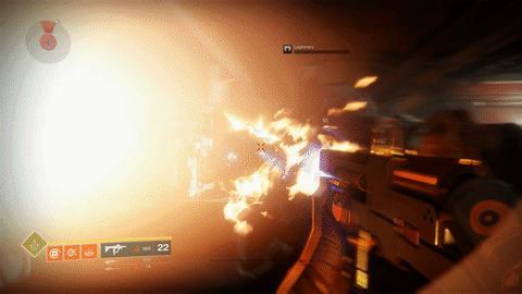 Azione frenetica in una GIF di Destiny 2