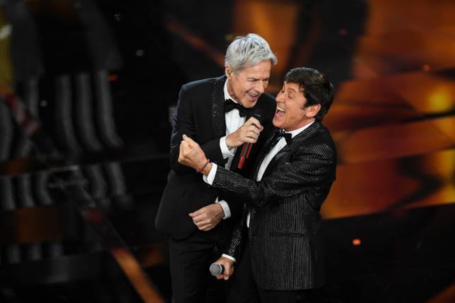 Gianni Morandi e Claudio Baglioni a Sanremo 2018