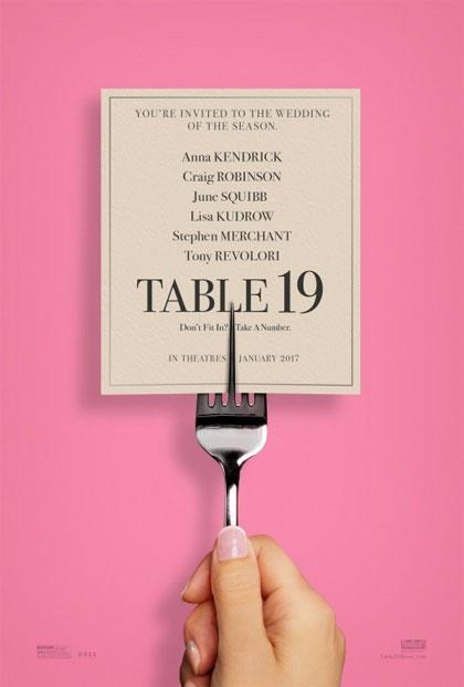 La locandina originale della commedia Tavolo 19