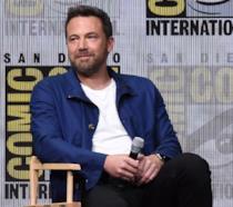 Ben Affleck intervistato durante un panel al Comic-Con di San Diego