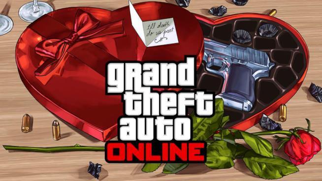 La cover ufficiale dell'evento di San Valentino di GTA Online