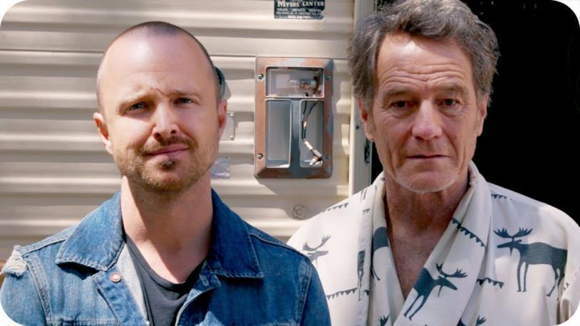 Jesse e Walt davanti al camper per Omaze