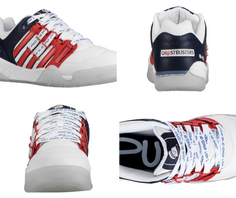 """La sneaker """"Stay Puft"""" che celebra il 35esimo anniversario di Ghostbusters vista da 4 angolazioni diverse"""