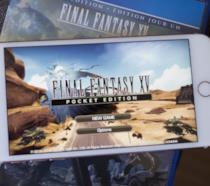La schermata iniziale di Final Fantasy XV: Pocket Edition