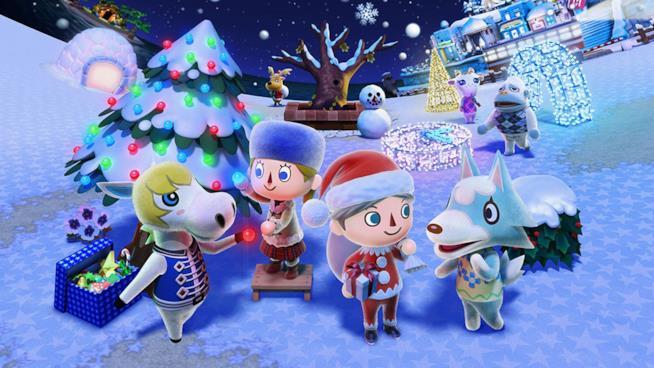 Animal Crossing festeggia il Natale