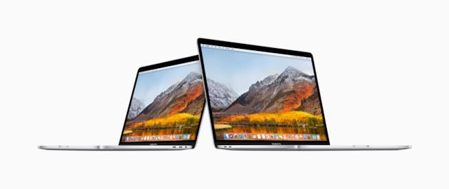 Primo piano dei due nuovi MacBook Pro 2018