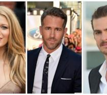 Primo piano di Blake Lively, Ryan Reynolds e Andrew Garfield