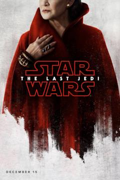 Leia nel character poster di Star Wars - Gli ultimi Jedi
