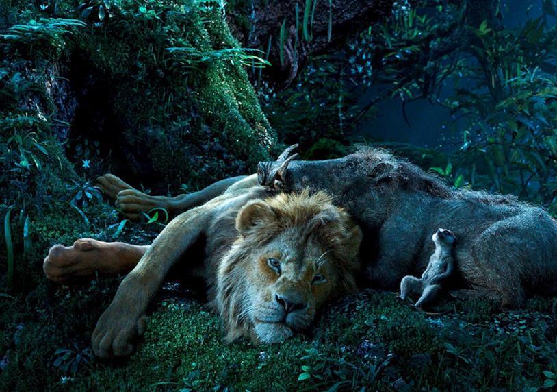 Una scena tratta dal nuovo remake de Il Re Leone