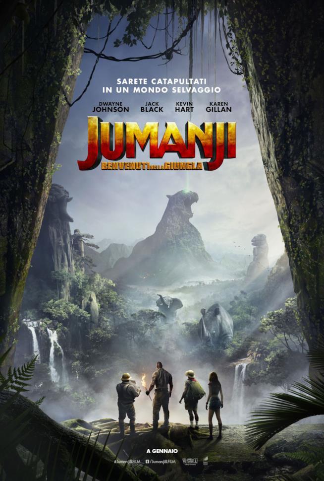 Il poster di Jumanji: Benvenuti nella Giungla