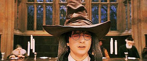 La scena dello smistamento di Harry Potter