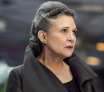 Carrie Fisher nel ruolo di Leia