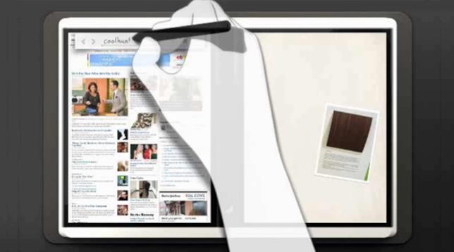 Esempio di Microsoft Courier, progetto abbandonato dall'azienda di Redmond