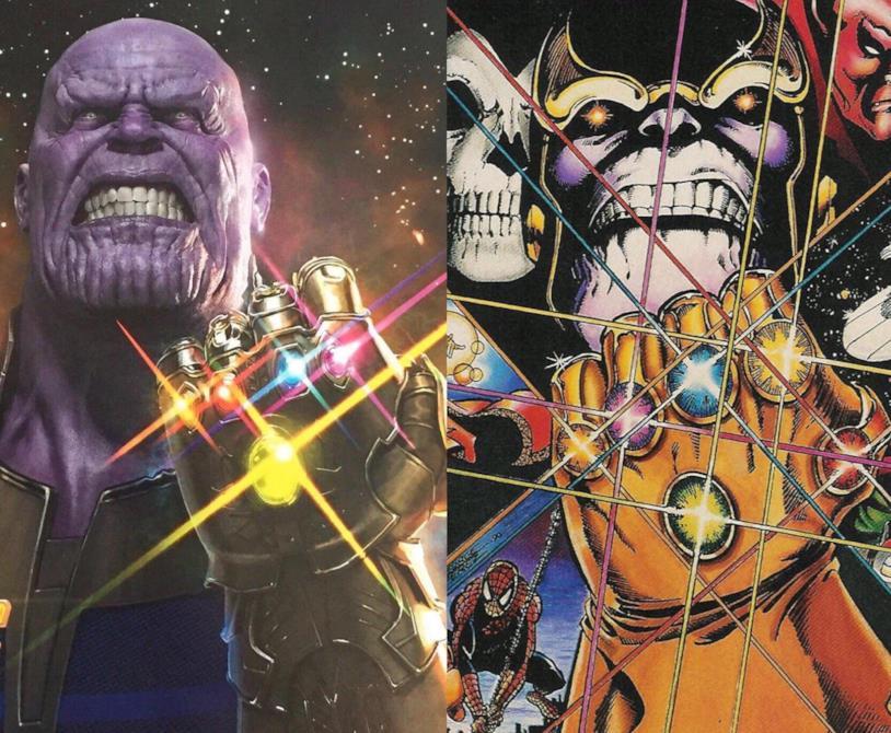 Il Thanos del cinema e quello dei fumetti a confronto