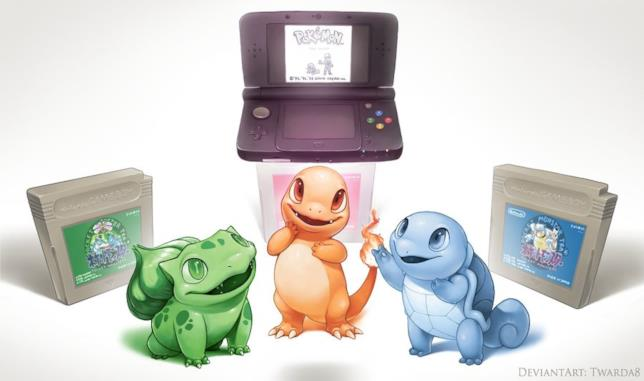 I Pokémon iniziali: Bulbasaur, Charmander e Squirtle