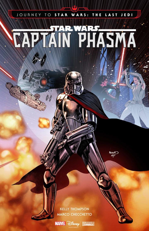 Captain Phasma e la sua lucente armatura disegnati da Marco Checchetto per la copertina della miniserie Marvel