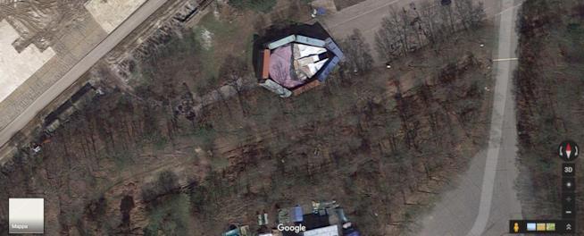 Una screen del luogo di ritrovamento del Millennium Falcon su Google Maps
